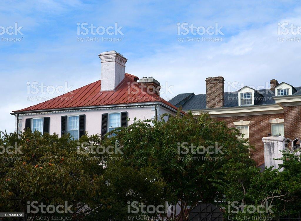 Beautiful Roof Tops of Charleston royalty-free stock photo