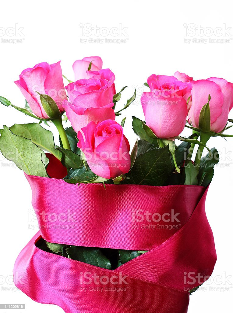 Beautiful Roses Bouquet royalty-free stock photo