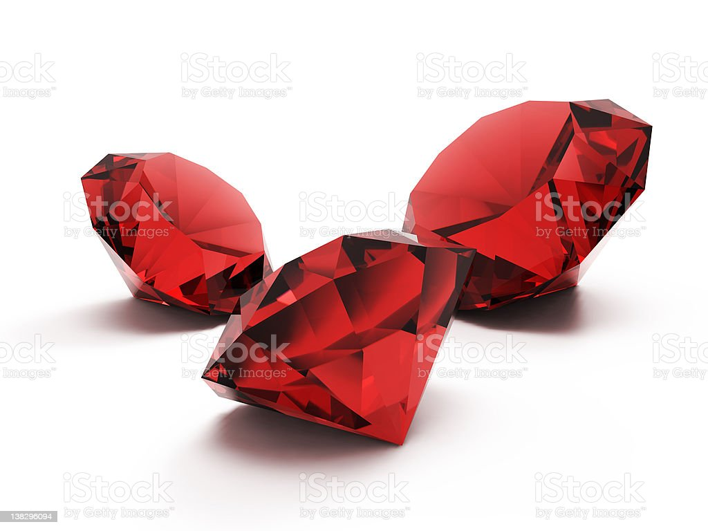 beautiful ruby gems stock photo