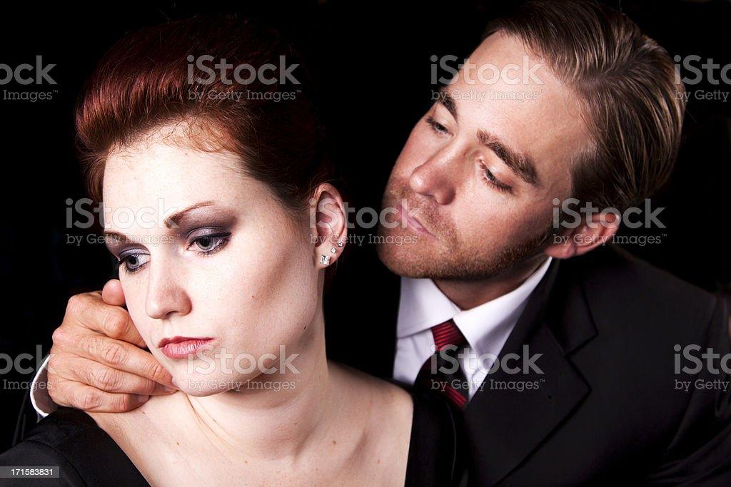 Beautiful Sad Couple stock photo