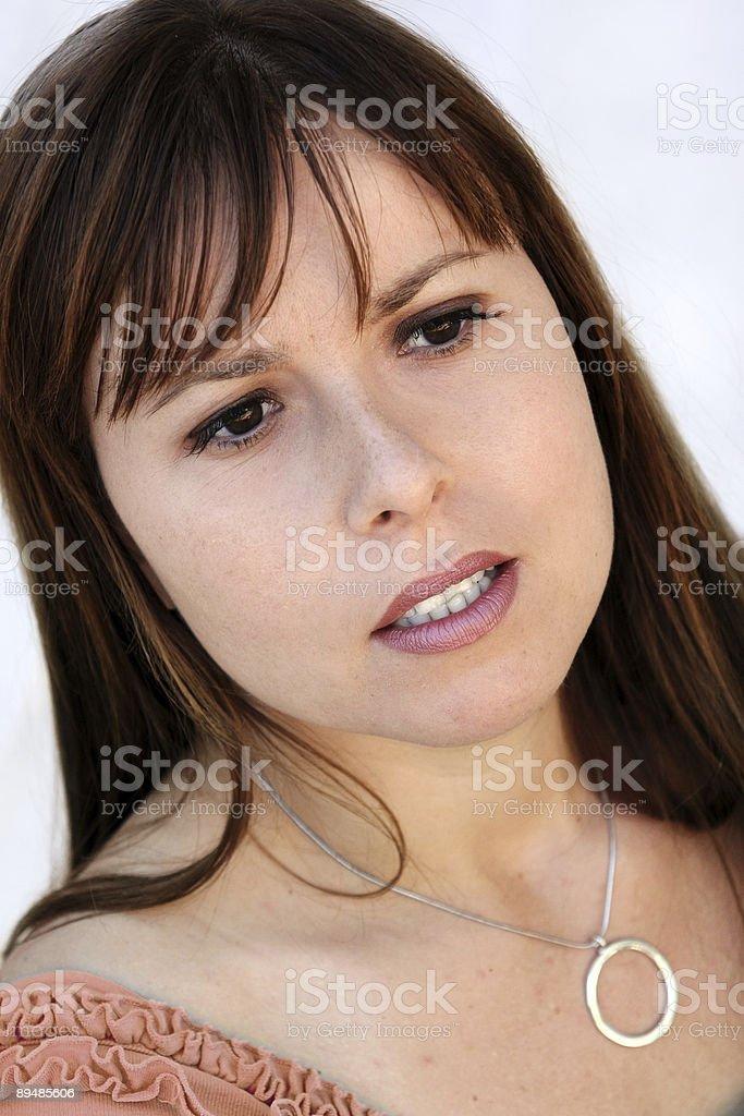 Beautiful sad woman royalty-free stock photo