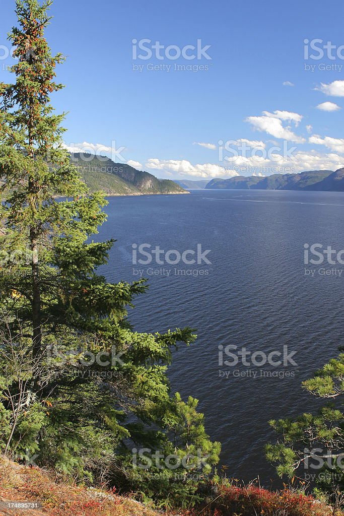 Beautiful Saguenay River Scenics stock photo