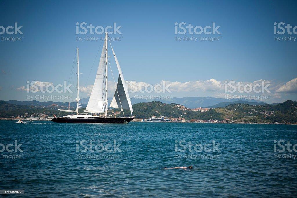 Beautiful Sailboat.... stock photo