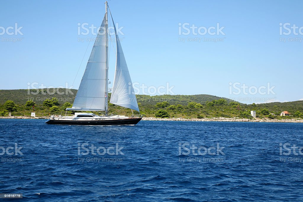 Beautiful sailing boat royalty-free stock photo