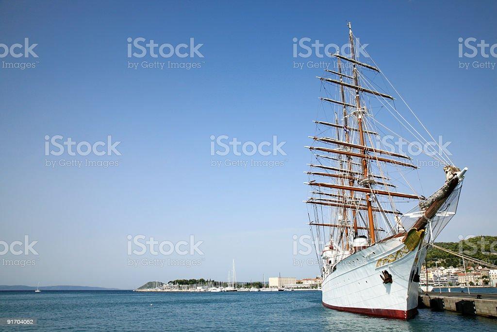 Beautiful sailing boat royalty-free stock photo