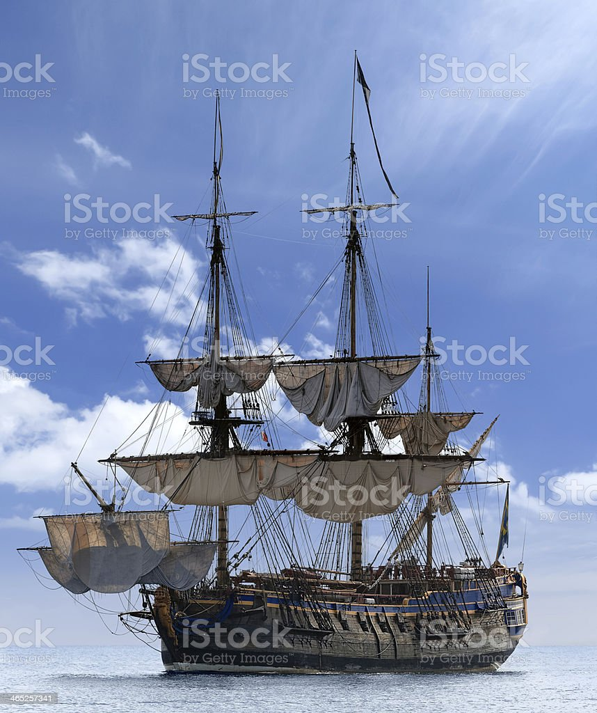 Beautiful sailing ship in Baltic sea, Sweden - Scandinavia stock photo