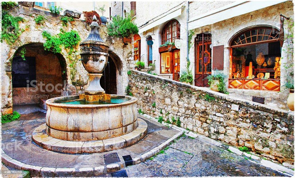 Beautiful Saint-Paul De Vence,France. stock photo