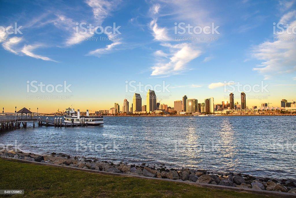 Beautiful San Diego day stock photo