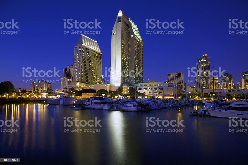 Beautiful San Diego twilight stock photo