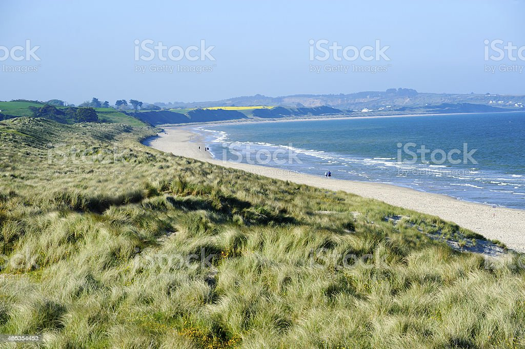 Beautiful sand beach in Co. Wexford, royalty-free stock photo