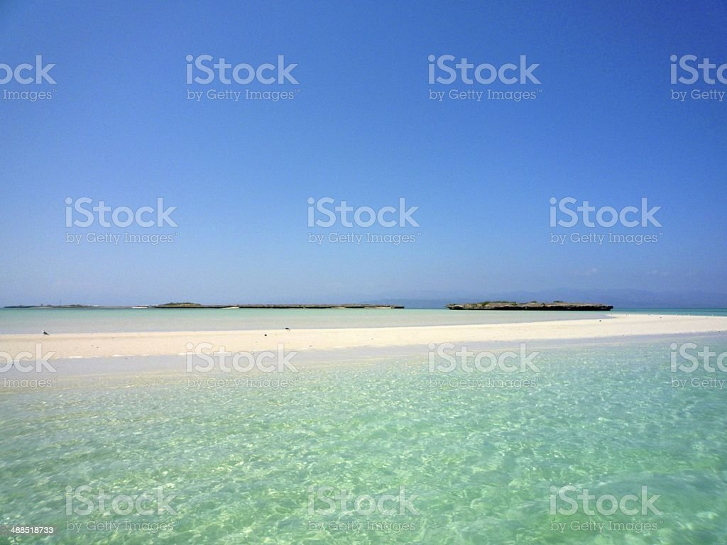 Beautiful sandbank in Djibouti royalty-free stock photo