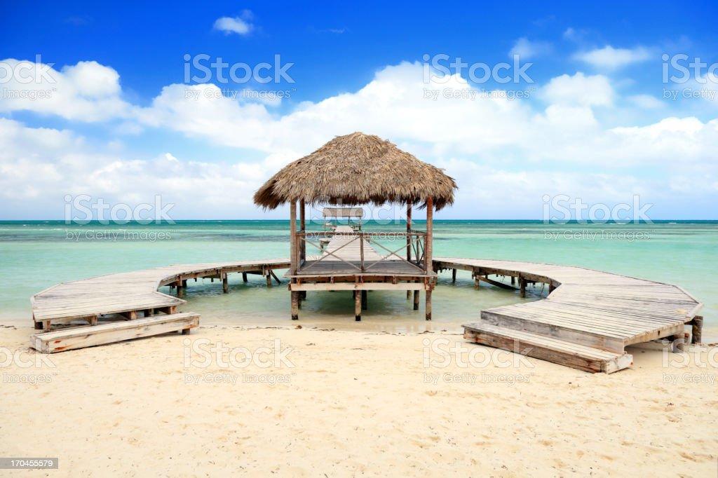 Beautiful sandy beach stock photo