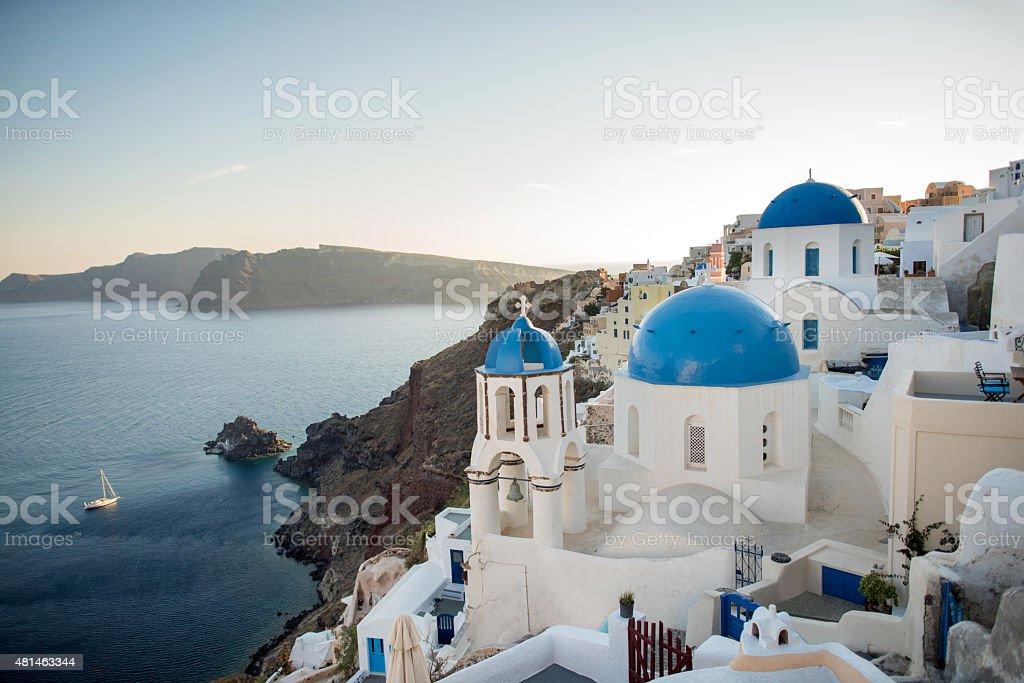 Beautiful Santorini stock photo
