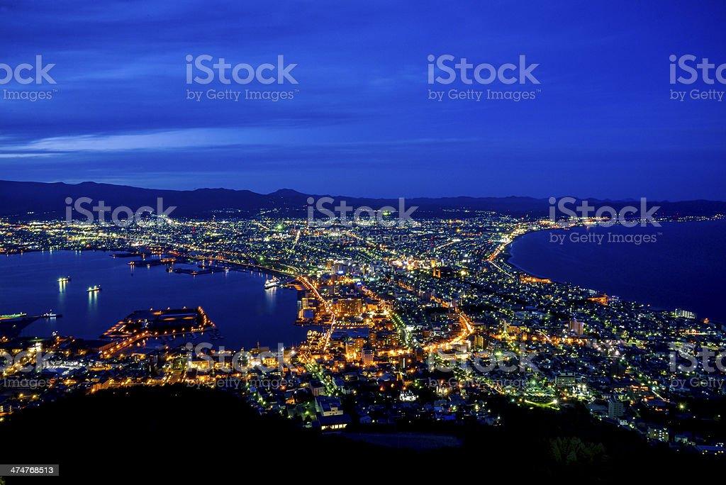 Beautiful scene in Hakodate Japan5 stock photo