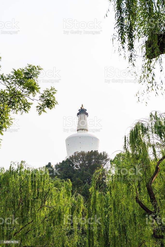 Beautiful Scene of Beijing Imperial Park: Beihai stock photo
