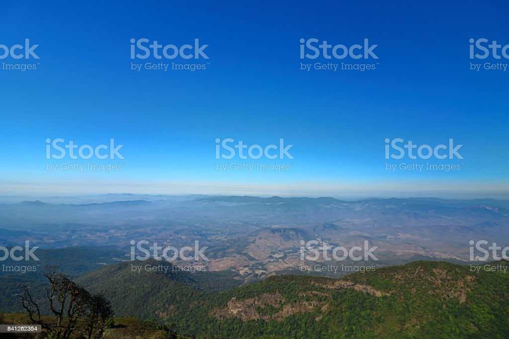 Beautiful scene view of Kew Mae Pan Nature Trail in Doi Inthanon National Park, Chiang Mai , Thailand stock photo
