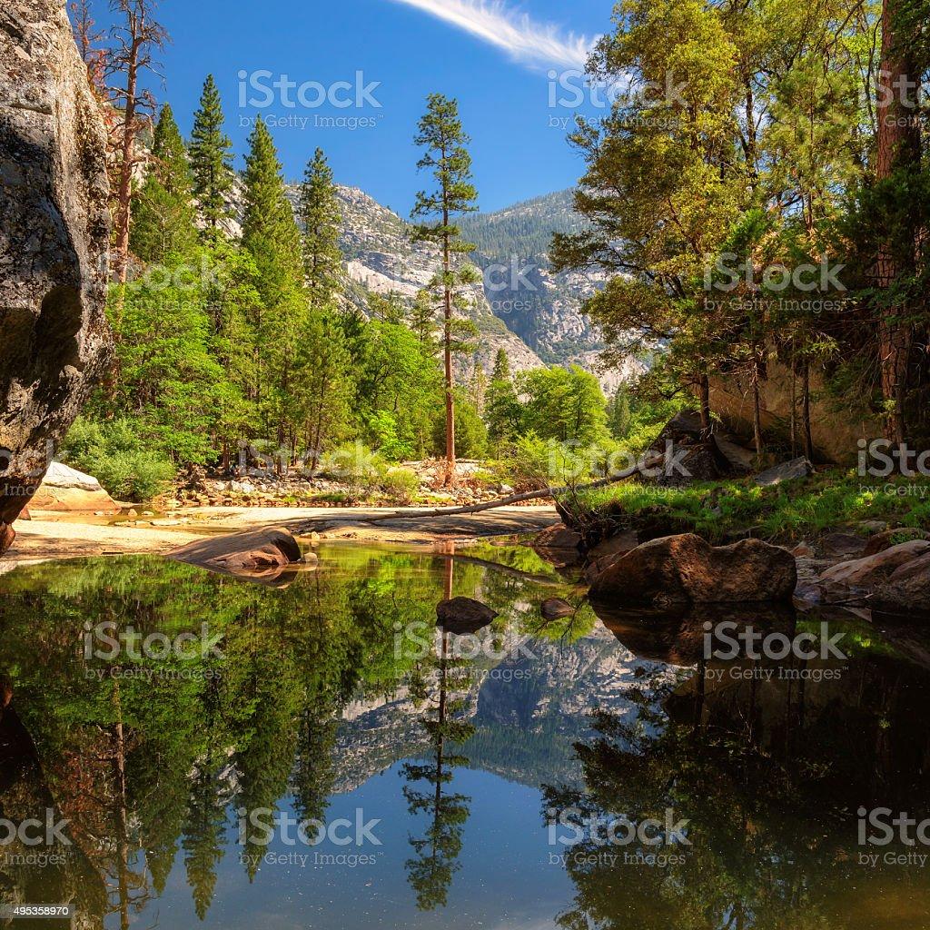 Beautiful scenery at Yosemite National Park, California stock photo