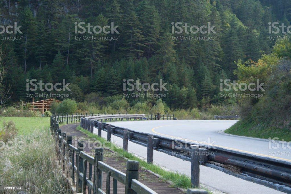 Beautiful scenery in Jiuzhaigou, Sichuan Province, China stock photo