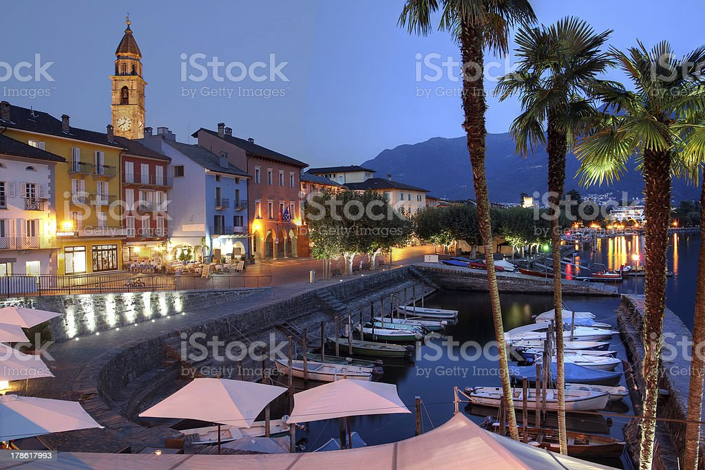 Beautiful scenery of Ascona, Switzerland stock photo