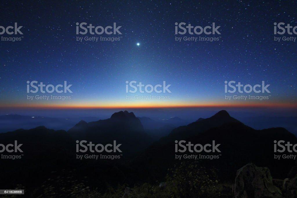 Beautiful scenery of Doi Luang Chiang Dao stock photo