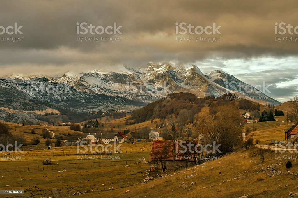 Beautiful Scenery of Durmitor Mountain stock photo