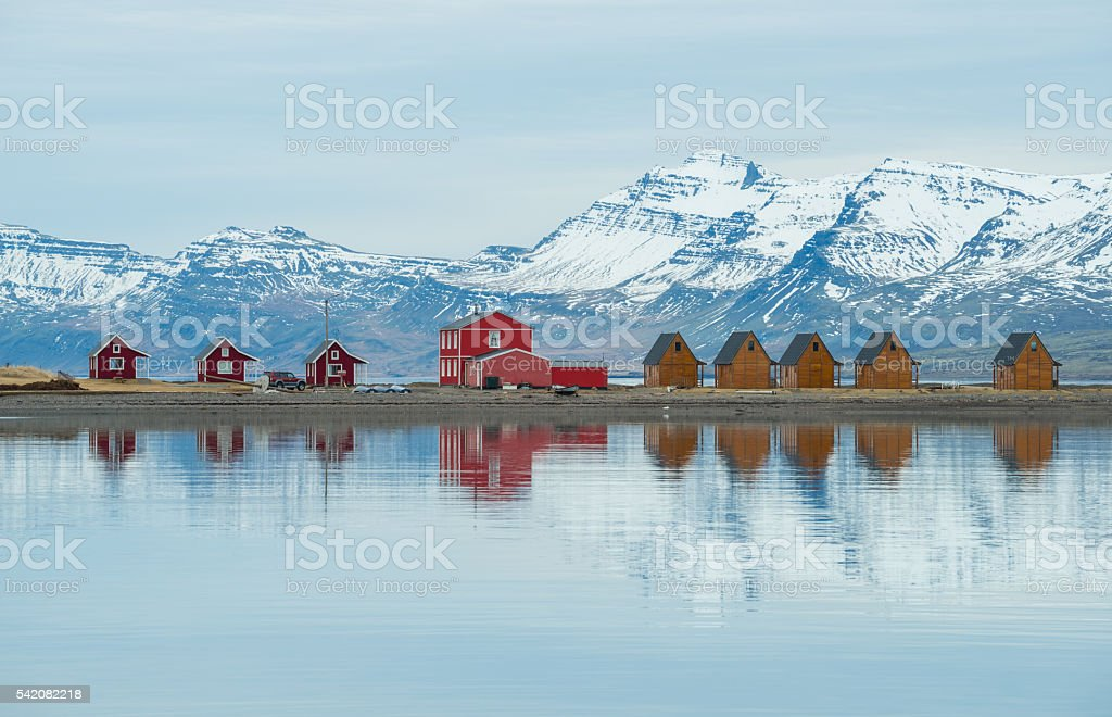 Beautiful scenery of East Iceland. stock photo