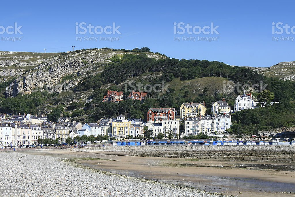 A beautiful scenery of the Llandudno seafront stock photo