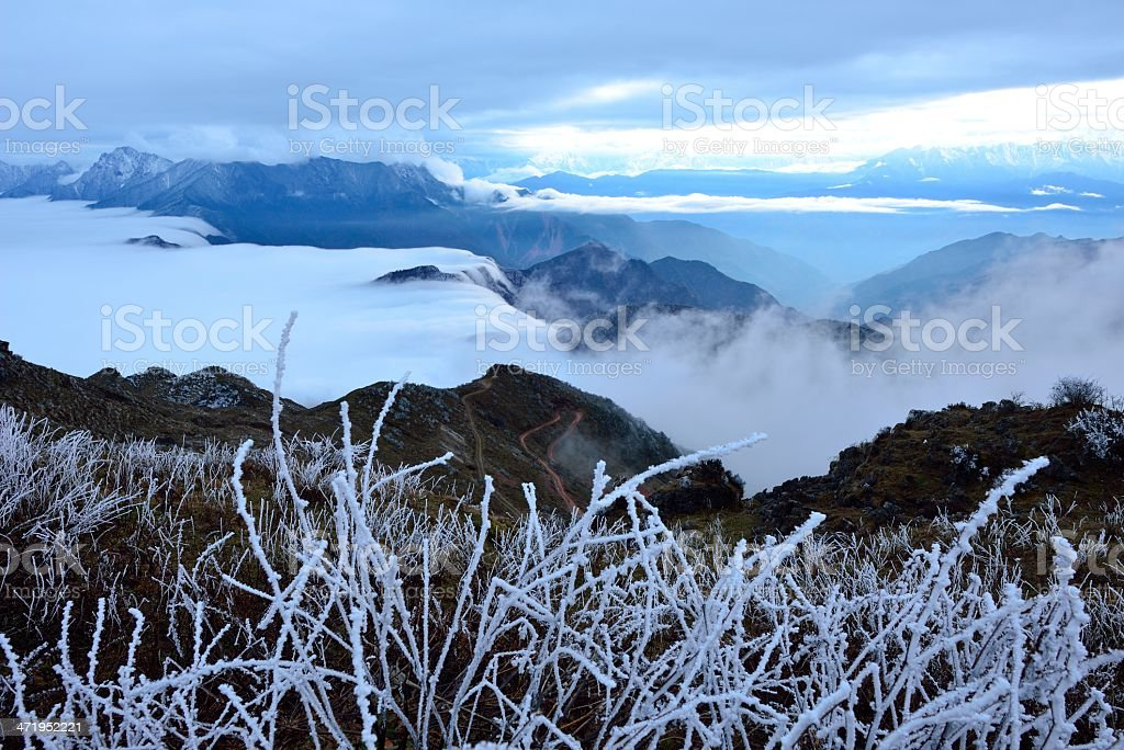 Beautiful scenery of the Niubei mountain, in Sichuan province, China stock photo
