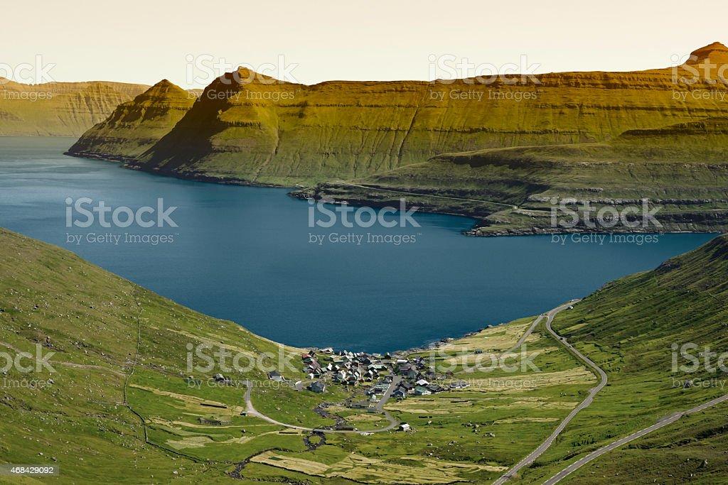 Beautiful scenery on the Faroe Islands stock photo