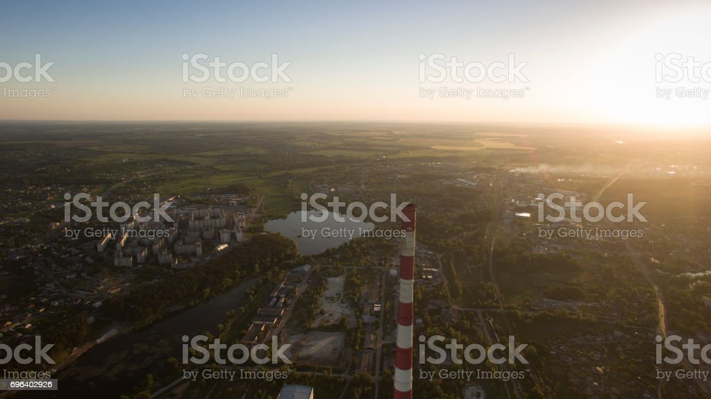 Beautiful scenery with a drone stock photo