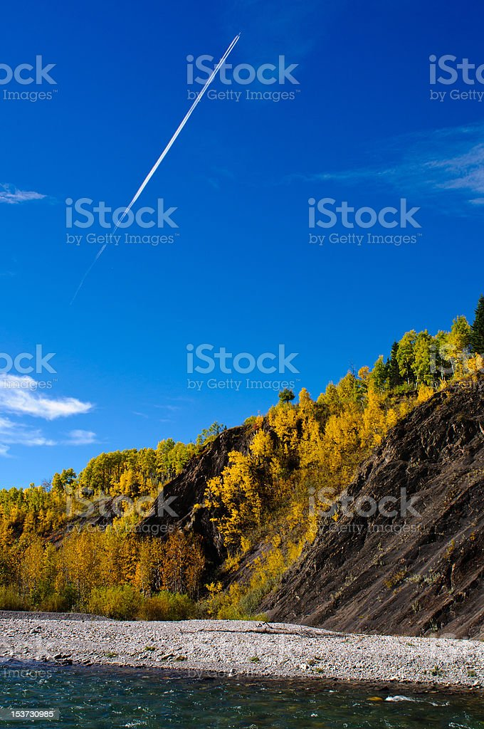 Beautiful scenes of the Canadian Rocky Mountains stock photo