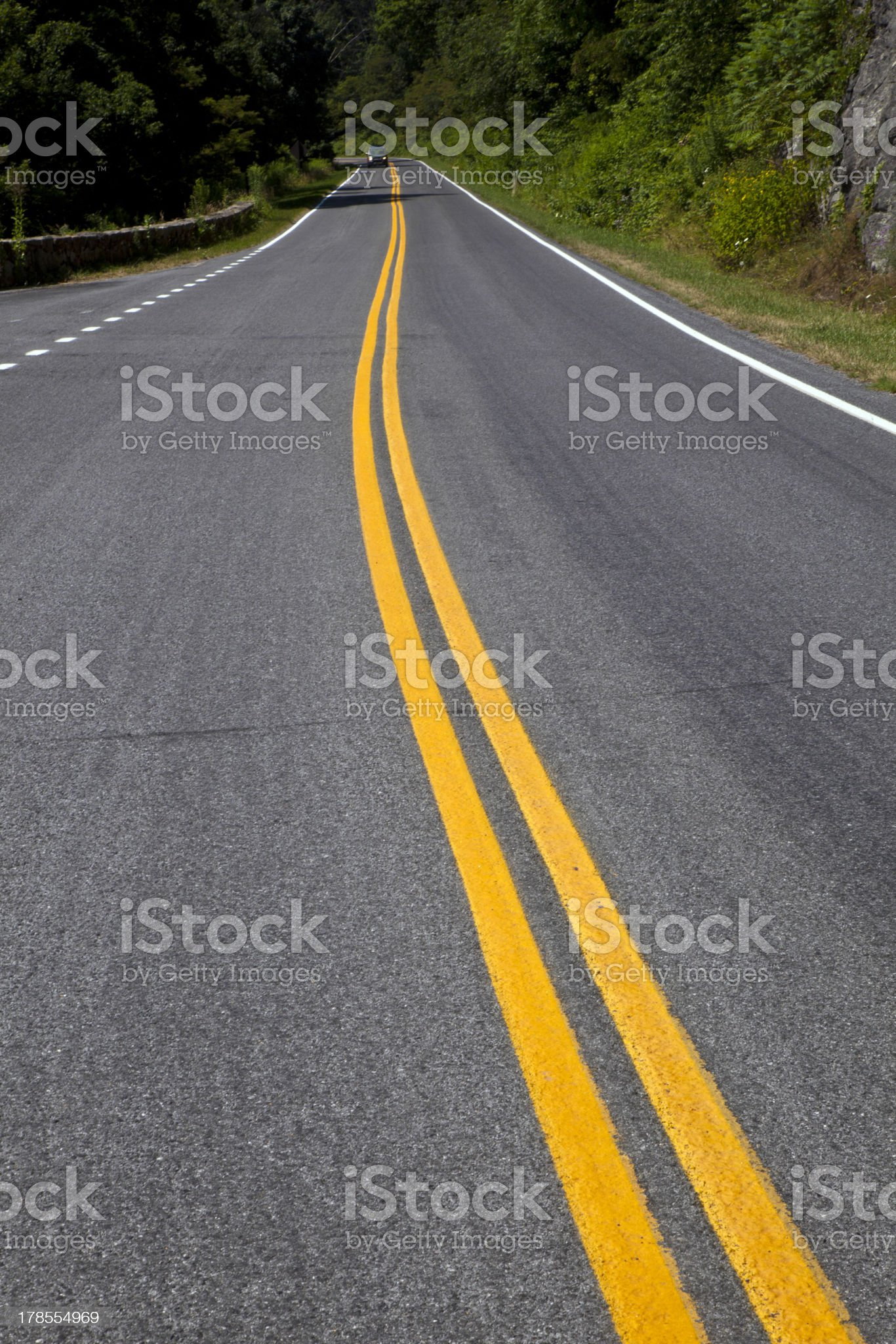 Beautiful scenic country road curves through Shenandoah  Nationa royalty-free stock photo