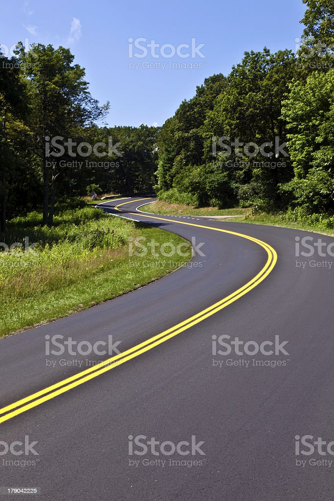 Beautiful scenic country road royalty-free stock photo