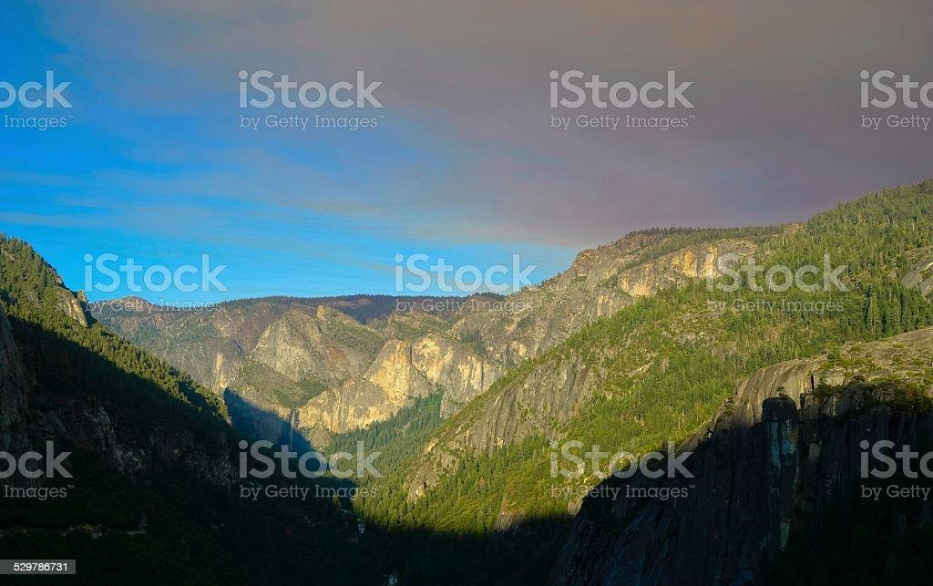 Beautiful scenic landscape in Yosemite National Park stock photo