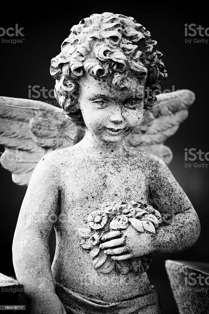 Beautiful Sculpture at a Melbourne Cemetery royalty-free stock photo