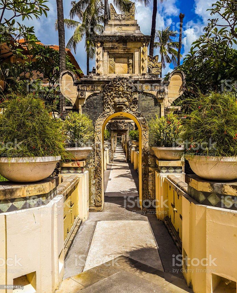 Beautiful Sculpture Ramada Benoa Bali! stock photo