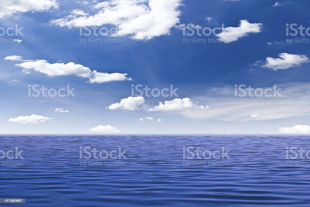Belle Mare e blu cielo foto stock royalty-free