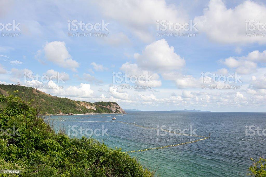 beautiful sea and island stock photo