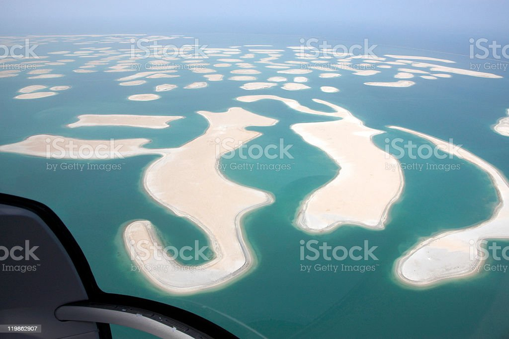 Beautiful sea and islands aerial view stock photo