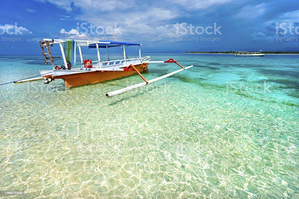 Beautiful sea at Gili Meno, Indonesia stock photo