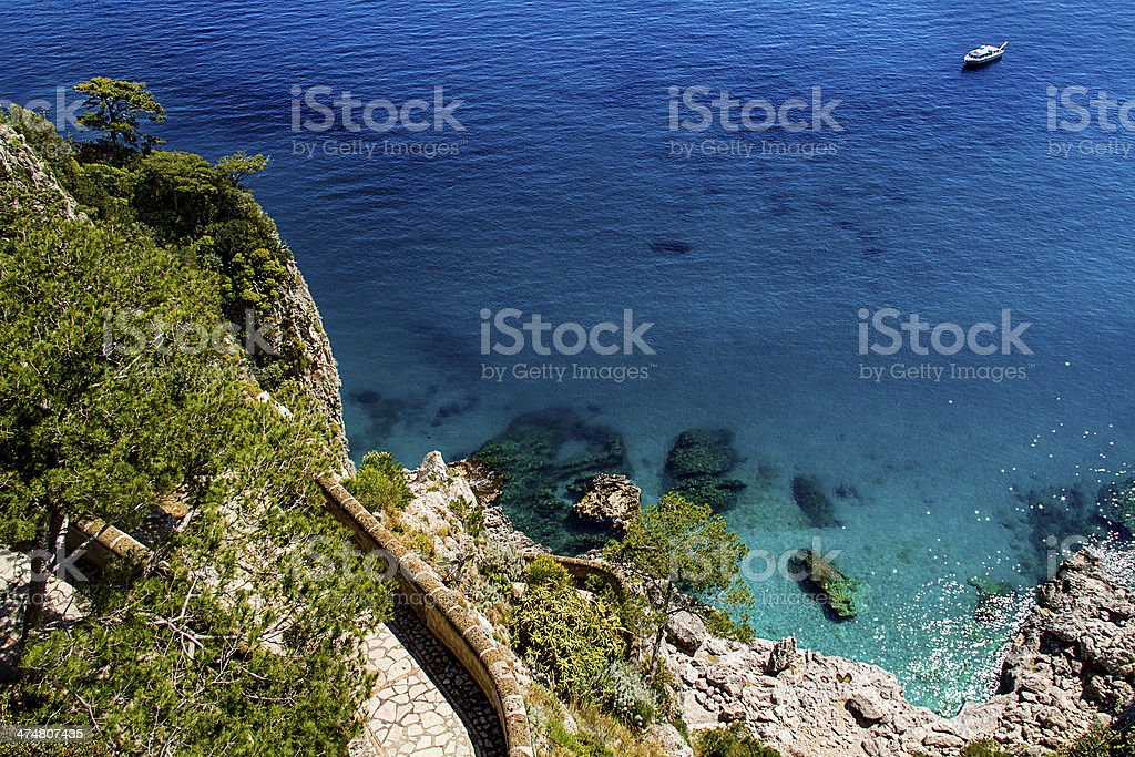 Beautiful sea in Capri - Italy stock photo