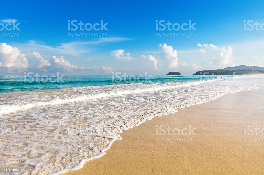 Beautiful sea. Karon beach, Phuket, Thailand. Asia stock photo