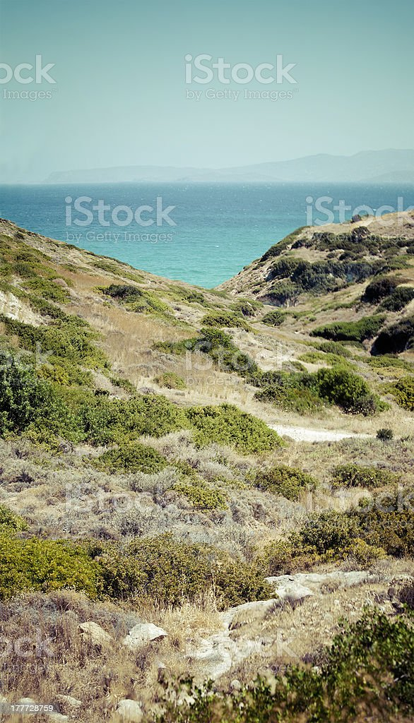 Beautiful sea landscape panorama of Crete royalty-free stock photo