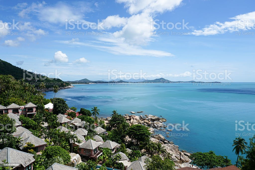 Beautiful sea view, Koh Samui, Thailand stock photo