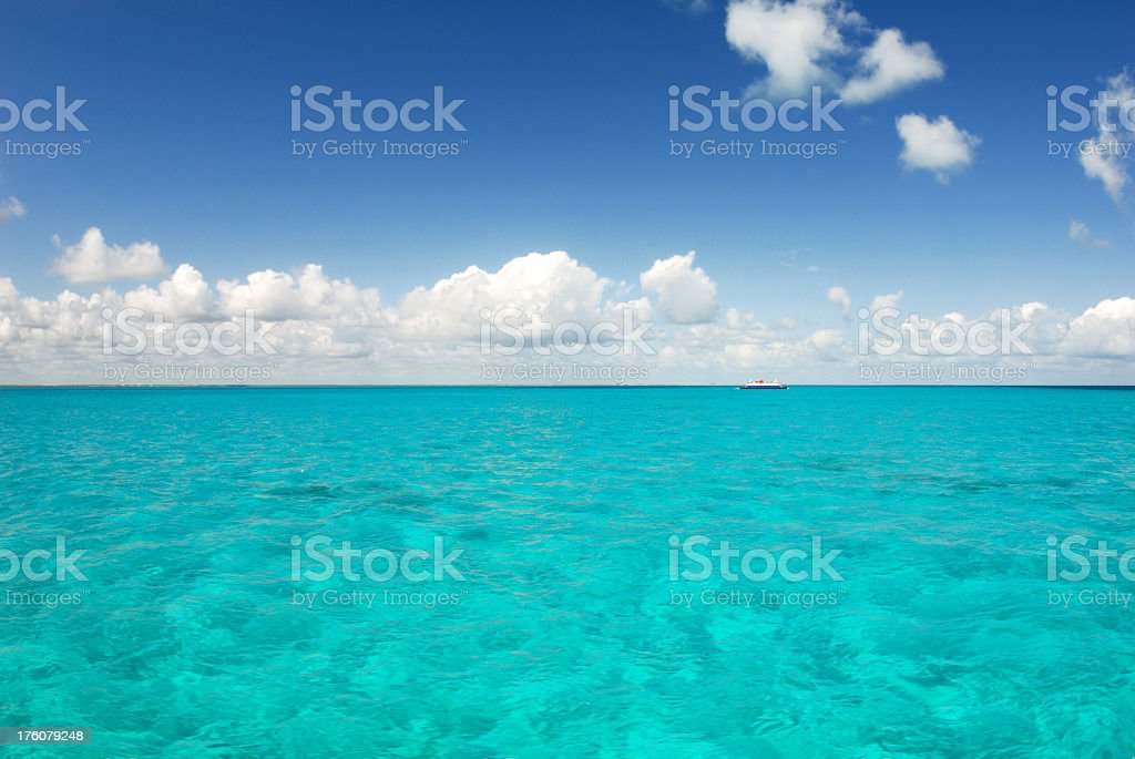 Beautiful sea view with lovely clear blue water royalty-free stock photo