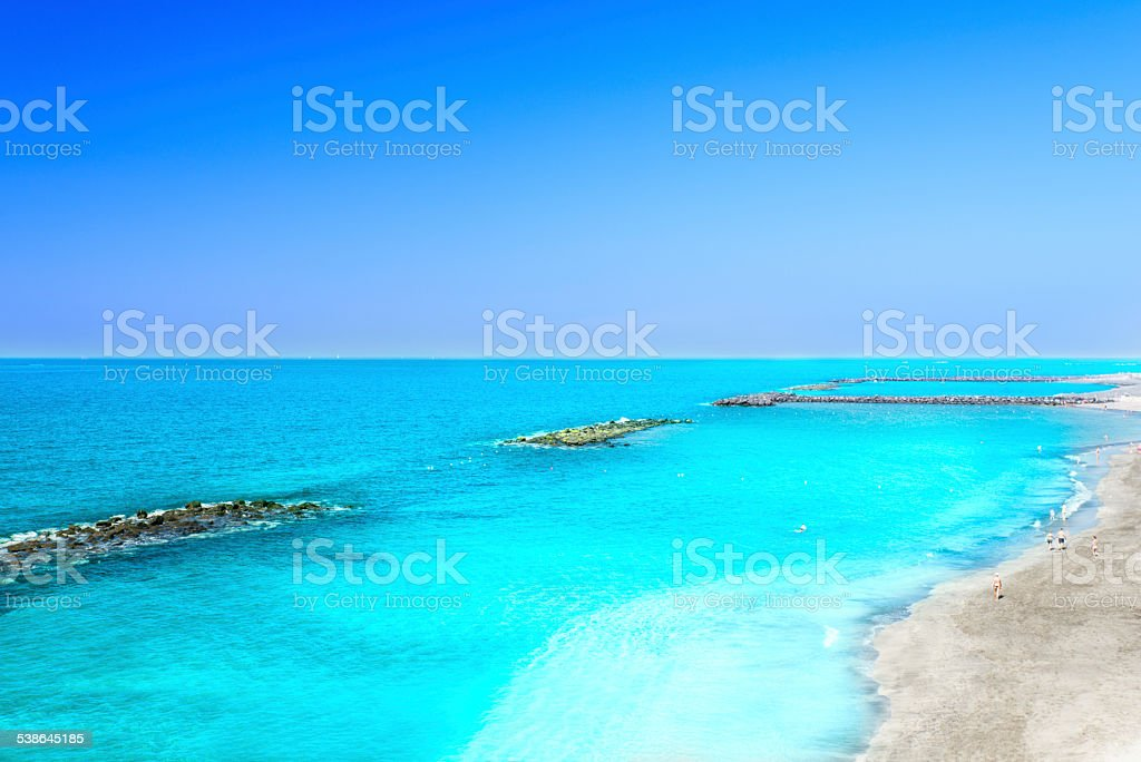 Beautiful sea water of tropical beach at spring stock photo