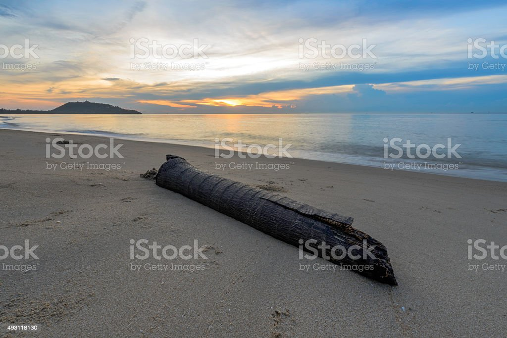 Beautiful sea wave and sky at sunset royalty-free stock photo