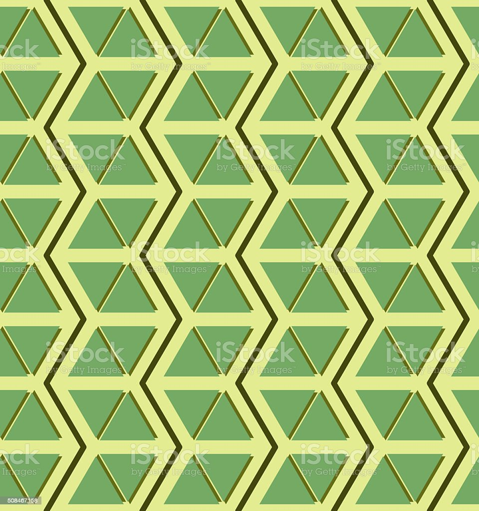 Beautiful seamless pattern of zigzags and triangles stock photo
