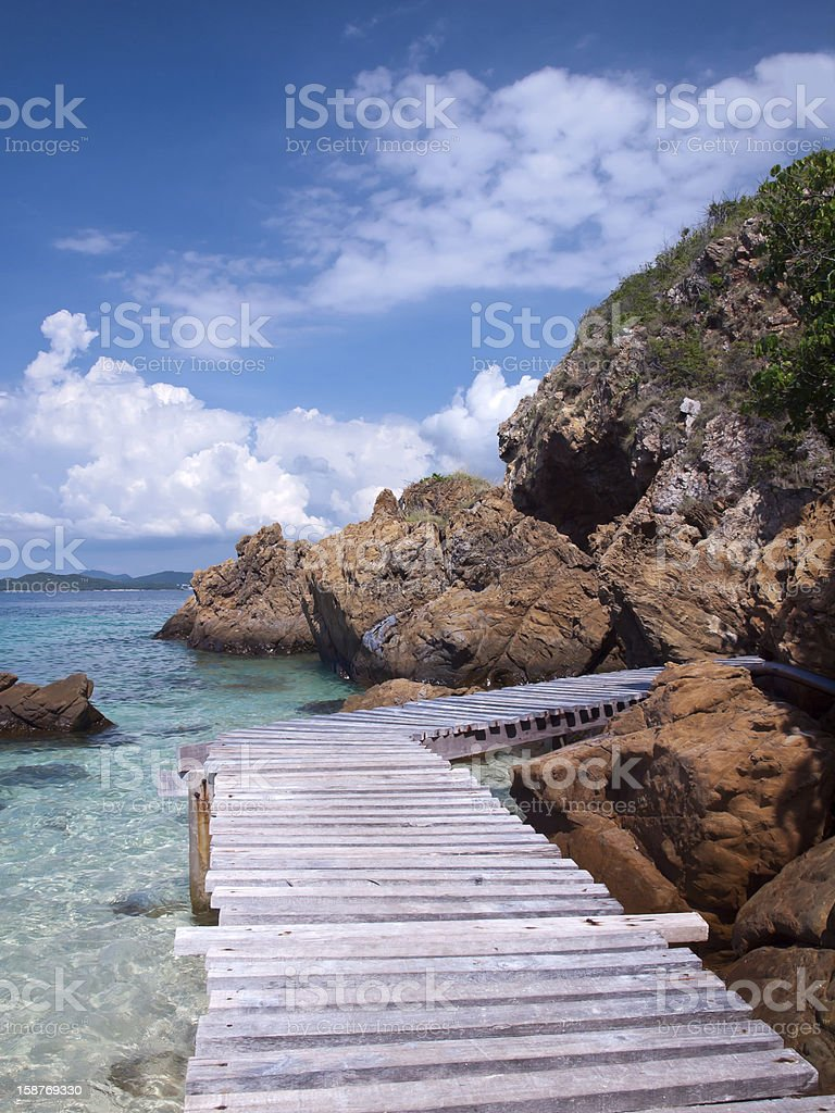 Beautiful seaside stock photo