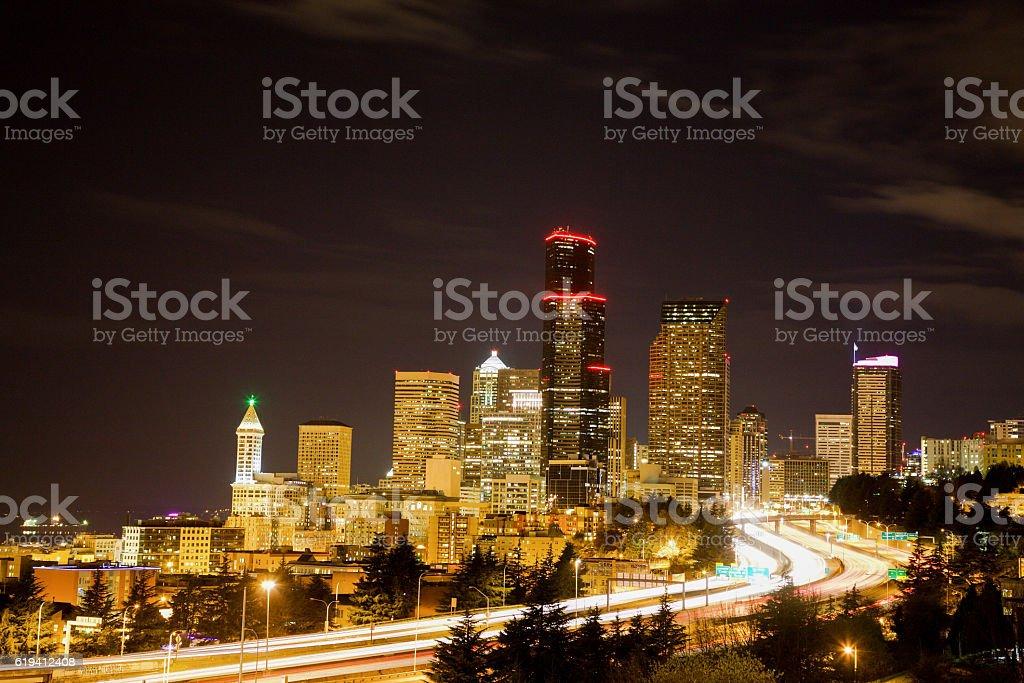 Beautiful Seattle Skyline/CityScape stock photo